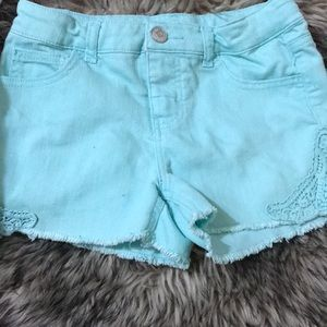 Mint shorts for girls